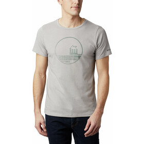 Columbia Bluff Mesa Graphic Camiseta Hombre, columbia grey outdoor relief